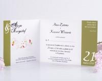 wnętrze zaproszenia ślubnego ze zdjęciem